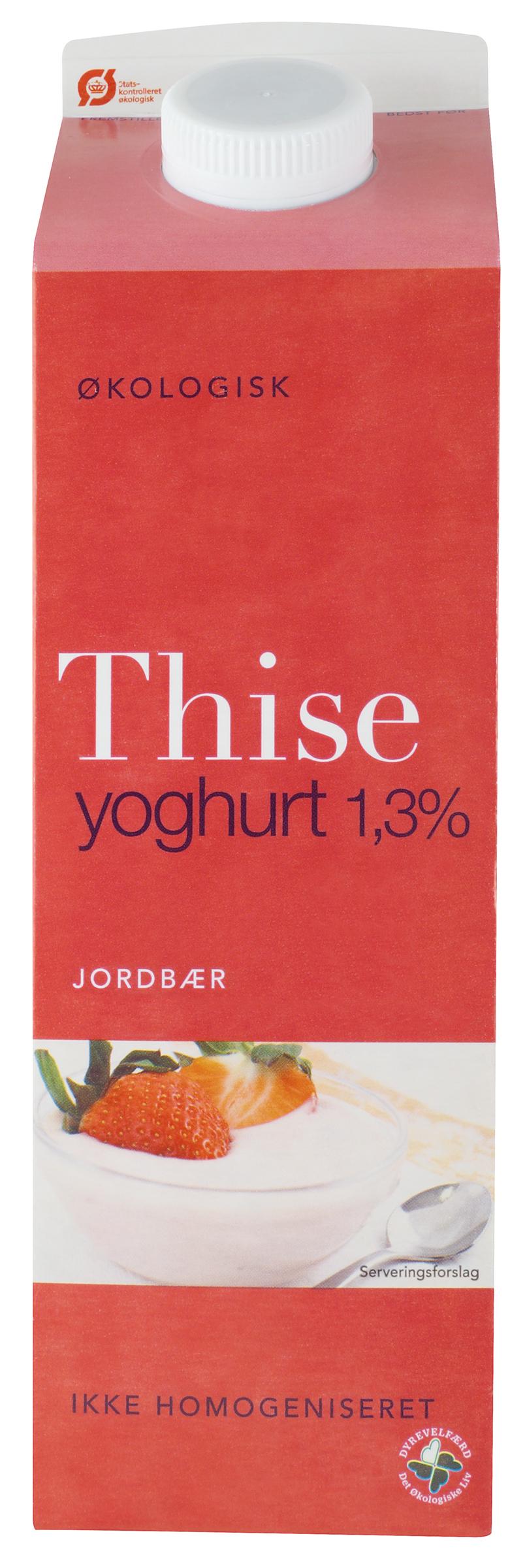 Yoghurt Jordbær 1,5 % Thise